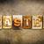 кожа · слово · написанный · ржавые · металл - Сток-фото © enterlinedesign