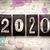 2020 concept metal letterpress type stock photo © enterlinedesign