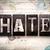nefret · kelime · yazılı · paslı · Metal - stok fotoğraf © enterlinedesign