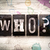 who concept metal letterpress type stock photo © enterlinedesign