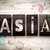 asia concept metal letterpress type stock photo © enterlinedesign