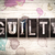 guilty concept metal letterpress type stock photo © enterlinedesign
