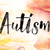 自閉症 · 水彩画 · 言葉 · 芸術 · 書かれた · 白 - ストックフォト © enterlinedesign