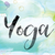yoga colorful watercolor and ink word art stock photo © enterlinedesign