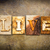 vivre · cuir · mot · écrit · rouillée - photo stock © enterlinedesign