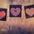 3 wooden letterpress hearts stock photo © enterlinedesign