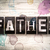 father concept metal letterpress type stock photo © enterlinedesign