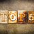 top 5 concept letterpress leather theme stock photo © enterlinedesign