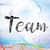 team colorful watercolor and ink word art stock photo © enterlinedesign