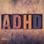 adhd concept wooden letterpress type stock photo © enterlinedesign