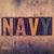 navy concept wooden letterpress type stock photo © enterlinedesign