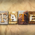 fate concept rusted metal type stock photo © enterlinedesign