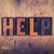 help concept wooden letterpress type stock photo © enterlinedesign