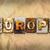 Europa · woord · geschreven · roestige · metaal - stockfoto © enterlinedesign