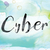 cyber colorful watercolor and ink word art stock photo © enterlinedesign