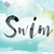 swim colorful watercolor and ink word art stock photo © enterlinedesign