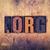 Dot Org Concept Wooden Letterpress Type stock photo © enterlinedesign