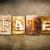 fate concept letterpress leather theme stock photo © enterlinedesign