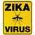 yellow zika virus warning sign stock photo © enterlinedesign