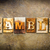 gamble concept letterpress leather theme stock photo © enterlinedesign