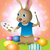 easter bunny decorating easter eggs stock photo © enterlinedesign