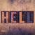地獄 · 木製 · タイプ · 言葉 · 書かれた - ストックフォト © enterlinedesign