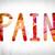 fájdalom · színes · vízfesték · tinta · szó · művészet - stock fotó © enterlinedesign