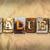 metaal · tekst · teken · brief · witte · kubus - stockfoto © enterlinedesign