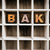 bake concept wooden letterpress type in draw stock photo © enterlinedesign