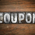 coupon concept metal letterpress type stock photo © enterlinedesign