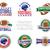 americano · fútbol · emblema · ilustración · pelota · cascos - foto stock © enterlinedesign