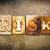 risk concept letterpress leather theme stock photo © enterlinedesign
