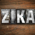 zika concept metal letterpress type stock photo © enterlinedesign
