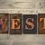 oeste · tipo · palabra · escrito · vintage - foto stock © enterlinedesign