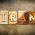 iran concept letterpress leather theme stock photo © enterlinedesign