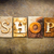 shop concept letterpress leather theme stock photo © enterlinedesign