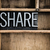 share concept metal letterpress word in drawer stock photo © enterlinedesign