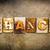 chance concept letterpress leather theme stock photo © enterlinedesign