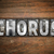 chorus concept metal letterpress type stock photo © enterlinedesign