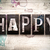 happy concept metal letterpress type stock photo © enterlinedesign