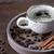 beker · koffie · vol · koffiebonen · witte · koffiekopje - stockfoto © epitavi