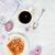 black coffee and bun with cinnamon stock photo © epitavi
