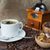 copo · café · grãos · de · café · moinho · tigela - foto stock © Epitavi