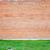 grande · parede · vermelho · tijolo · fronteira · grama · verde - foto stock © Epitavi