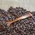 grãos · de · café · marrom · pano · comida · colher - foto stock © epitavi