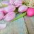 tarka · tojások · fából · készült · rusztikus · húsvét · tavasz - stock fotó © epitavi