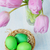 Easter composition with eggs and tulips stock photo © Epitavi