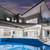 luxueux · manoir · externe · crépuscule · piscine · maison - photo stock © epstock