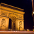 arc de triomphe and street plate stock photo © erickn