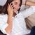 bonitinho · mulher · jovem · falante · telefone · internet - foto stock © ErickN